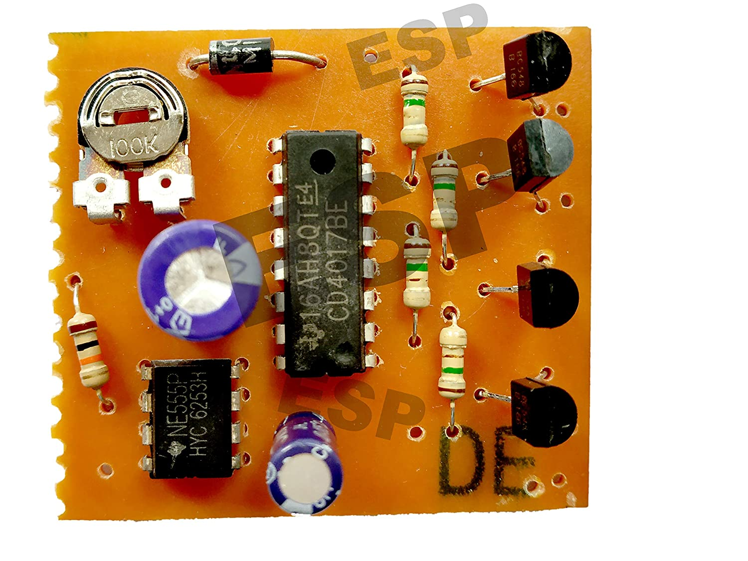 Led Chaser Circuit Running Light Decad Counter For Diagram Using Ic 555 And Cd 4017 Electronic Projects Cd4017 Timer Industrial Scientific