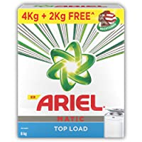 Ariel Matic Top Load Detergent Washing Powder - 4 kg with Free Detergent Powder - 2 kg