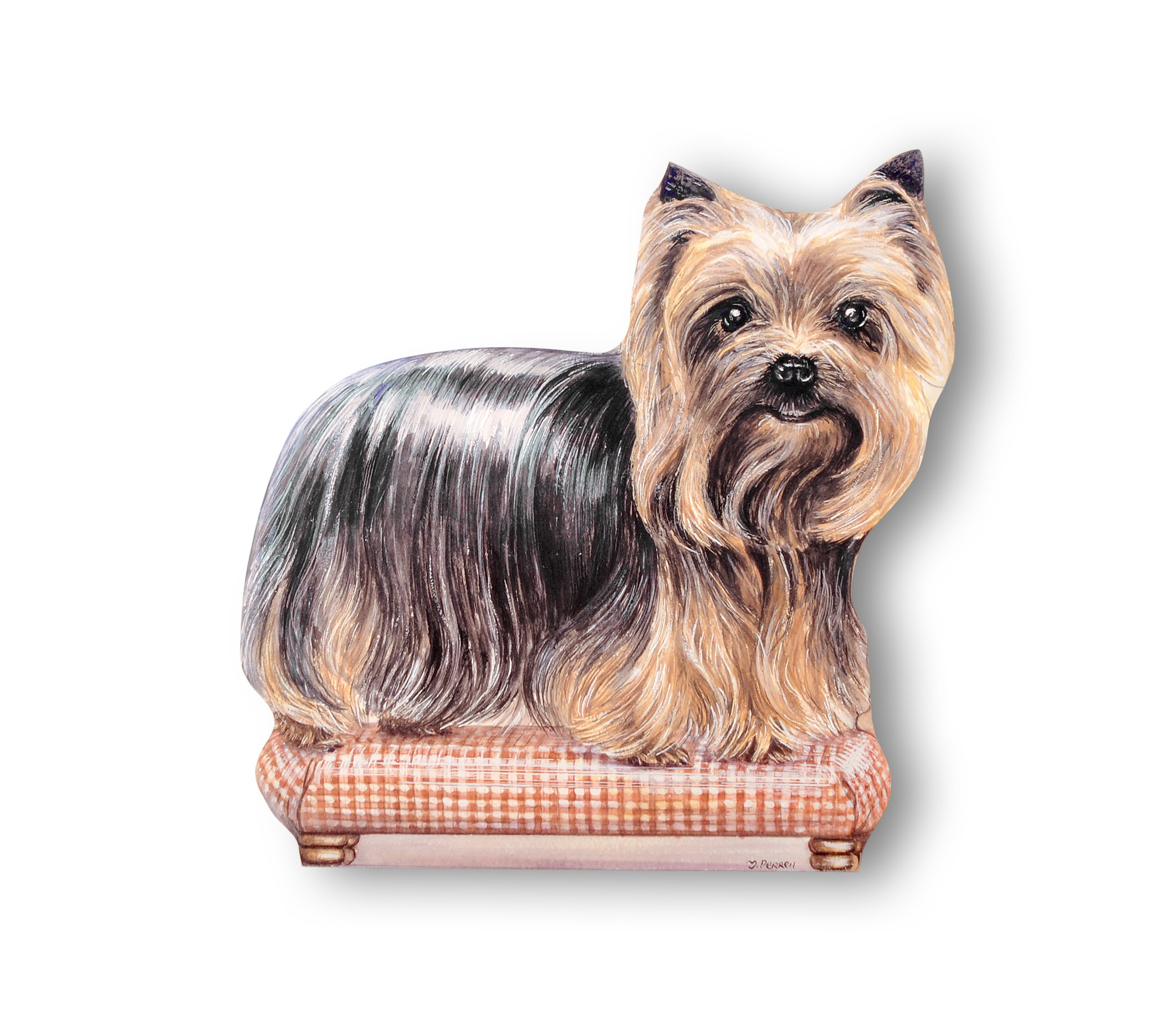 Stupell Home Décor Yorkie Decorative Dog Door Stop, 14 x 0.5 x 17, Proudly Made in USA