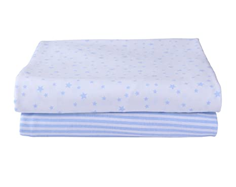 Pack of 2 Lilac Two Luxury Percale Cot Bed Fitted Sheets Available in 21 Colours