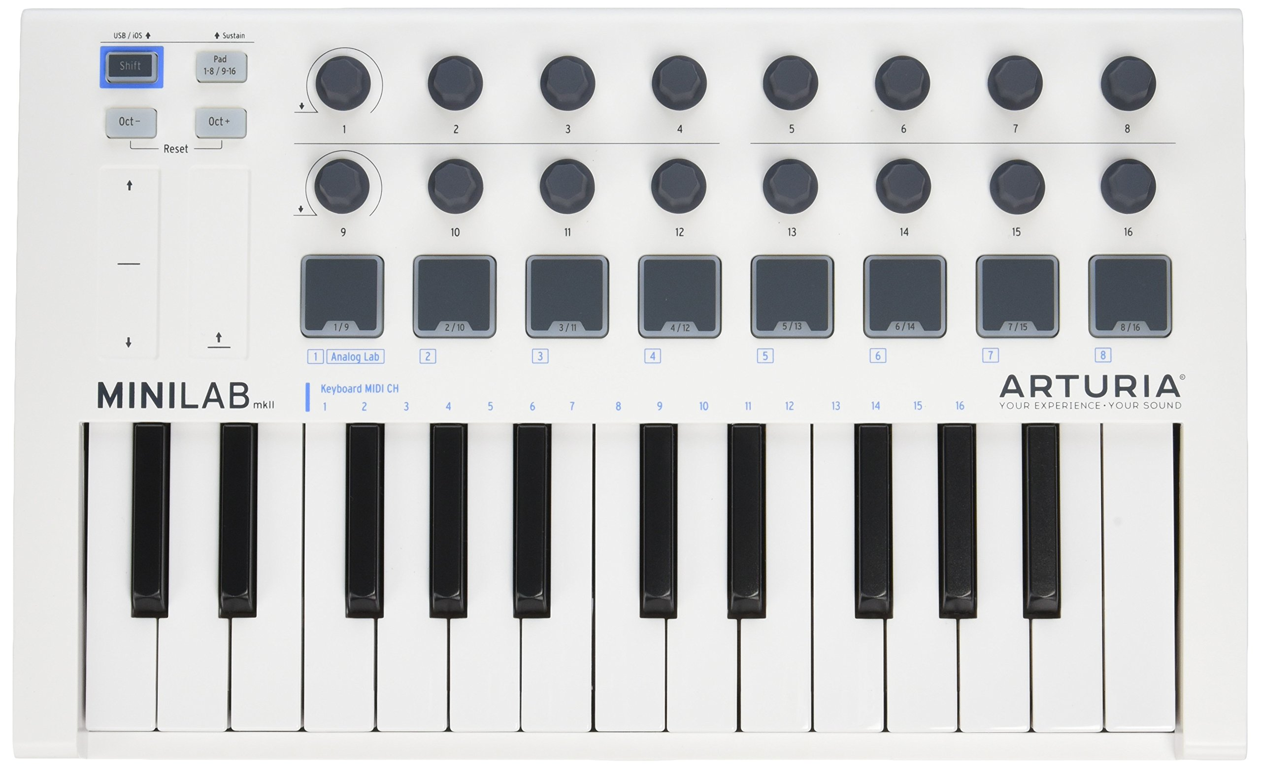 Arturia MiniLab MkII 25 Slim-Key Controller by Arturia
