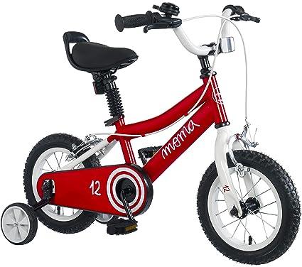 "Moma Bikes Infantil 12"" Bicicleta con ruedines incluidos, Rojo, ..."