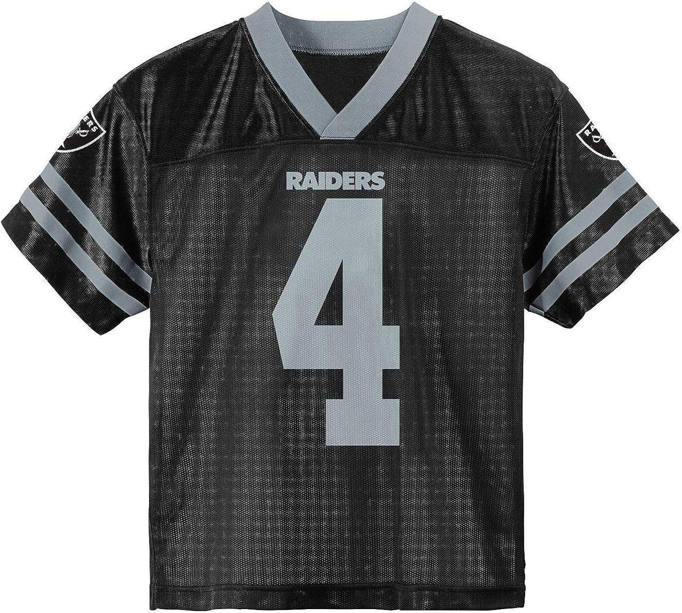 Derek Carr Las Vegas Raiders Black #4 Youth 4-20 Home Player Jersey