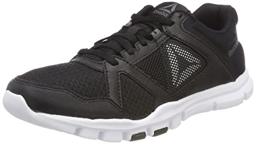 Mens Yourflex Train 10 Mt Fitness Shoes, Black/White/Grey, 9 UK Reebok