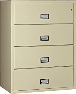 Phoenix Lateral 44 Inch 4 Drawer Fireproof File Cabinet   Putty