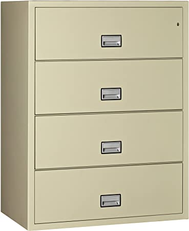 Nice Phoenix Lateral 44 Inch 4 Drawer Fireproof File Cabinet   Putty
