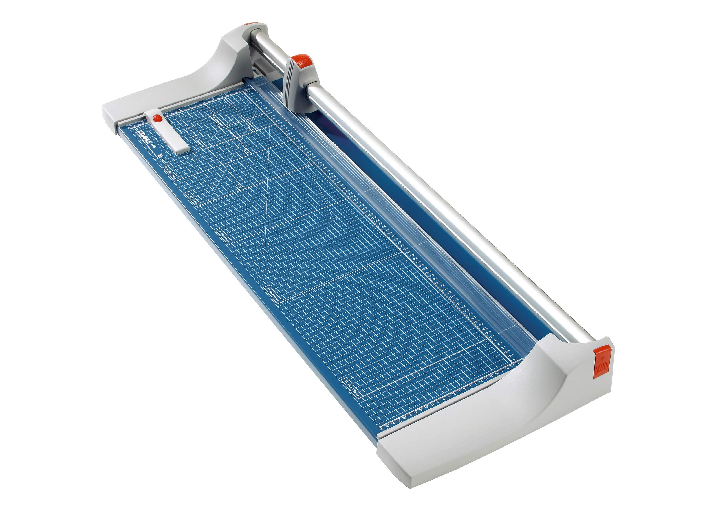 Dahle 446 Premium Rolling Trimmer, 36-1/8'' Cut Length, 25 Sheet Capacity, Self-Sharpening, Automatic Clamp, German Engineered Paper Cutter by Dahle