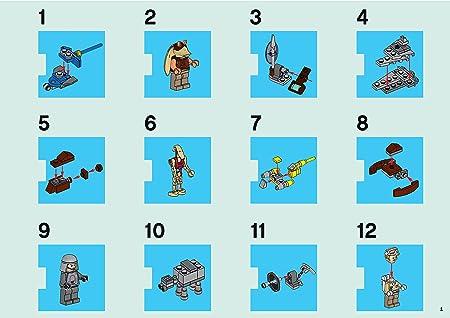 nombreux accessoires neuf neuf dans sa boîte LEGO STAR WARS calendrier de l/'avent 9509 V 2012 9 personnages
