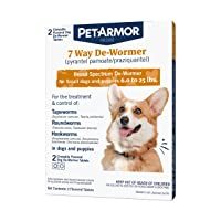PETARMOR 7 Way De-Wormer (Pyrantel Pamoate and Praziquantel) for Dogs, Includes...