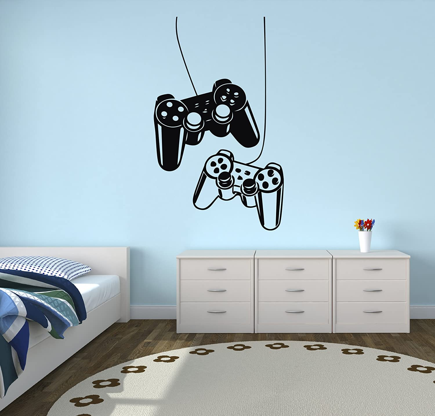 West Mountain Playstation Controllers Gaming Joystick Wall Decal Home Decor Art Vinyl Sticker