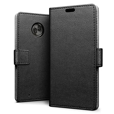buy popular d6e4b f5655 SLEO Case for Motorola Moto G6 Case, Luxury Slim PU Leather Flip Protective  Magnetic Wallet Cover Case for Motorola Moto G6 with Card Slot and Stand ...