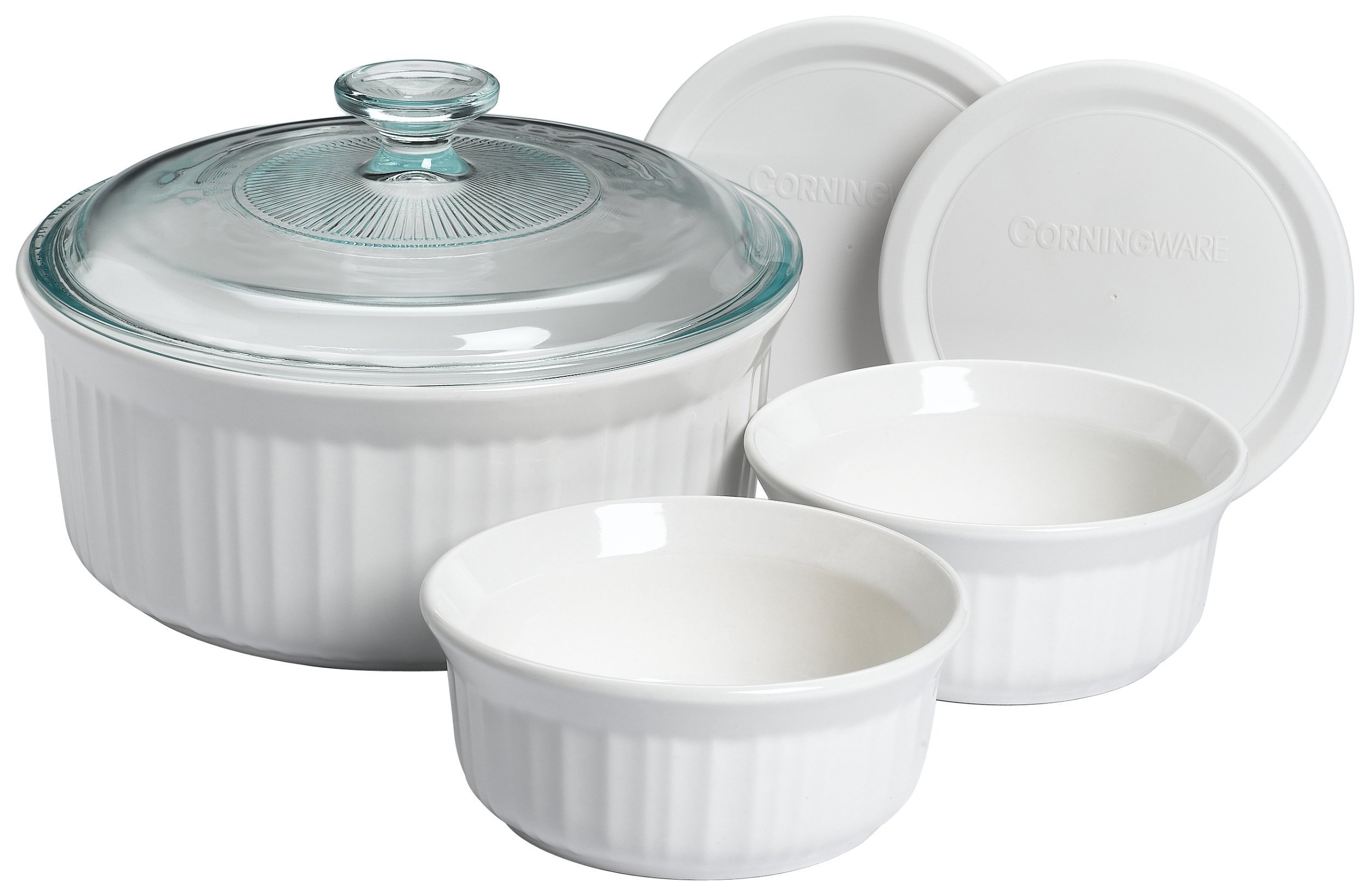 CorningWare French White 6-Piece Cooking and Baking Set