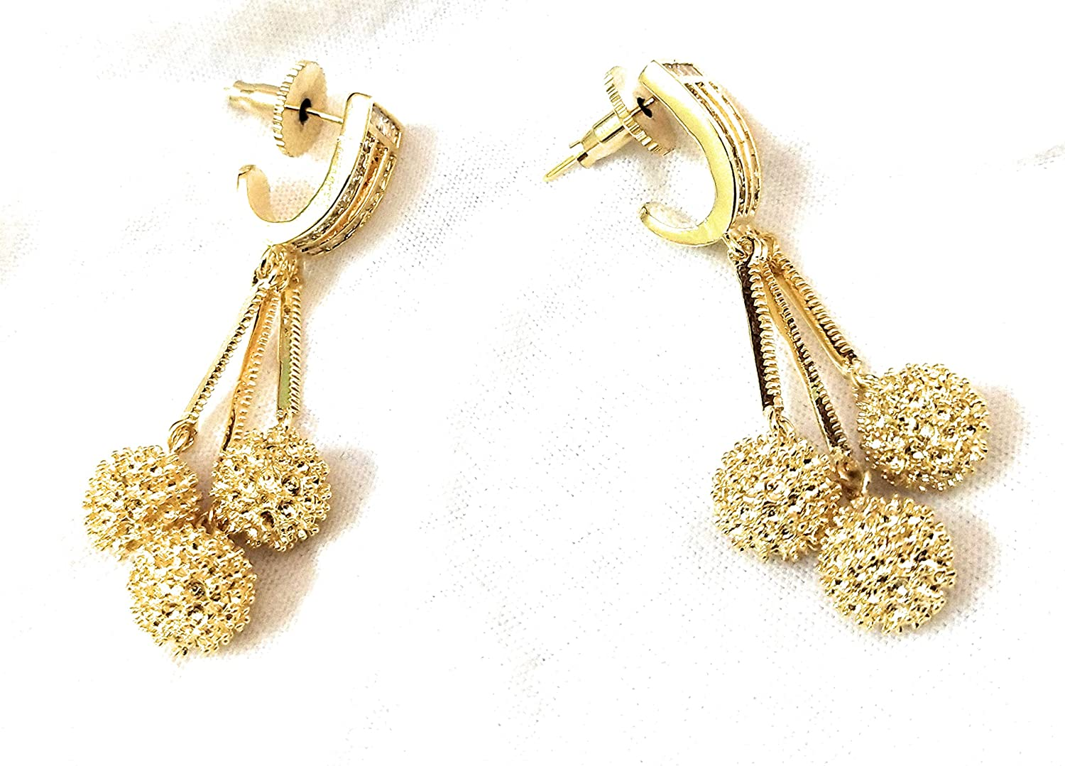 Parakeet House American Diamond Classic Earring with Gold Plating