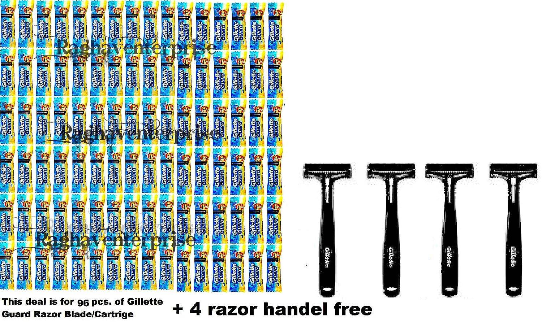 96-gillette-guard-razor-cartidge-blade-4-razor-handle-gillete-safty-razor-blade B075F97H21