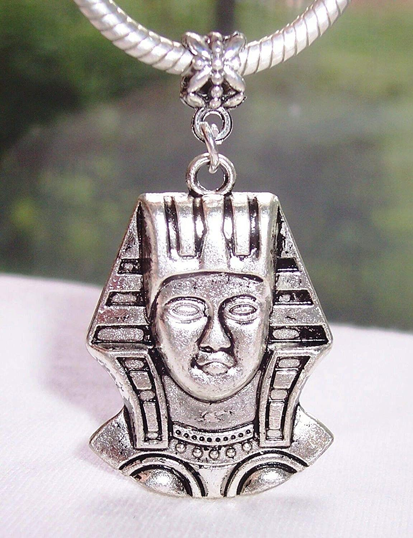 Very Large Cleopatra Egyptian Oversize Dangle Bead fits European Charm Bracelets Fashion Jewelry for Women Man