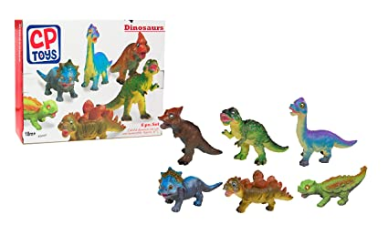 CP Toys 6 Pc  Soft and Squeezable Dinosaur Set for Toddlers