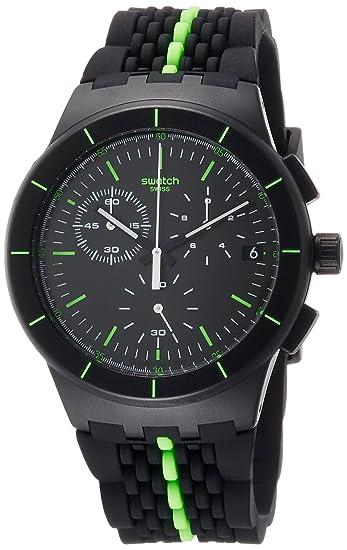 Swatch Reloj Digital para Hombre de Cuarzo con Correa en Silicona SUSB409: Amazon.es: Relojes