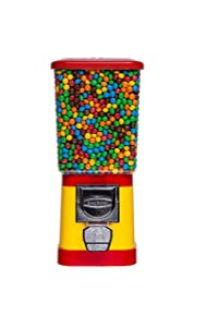 Candy Dispenser - Home Vending Machine - Red and Yellow Candy Vending Machine Without Stand - Candy Machine Dispenser - Nuts Pet Food Vending Dispenser
