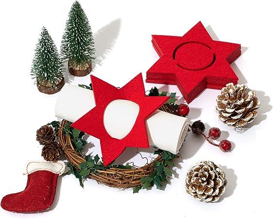 Filz Serviettenring Weihnachten Tannenbaum 12 Stück