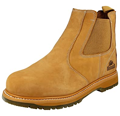 e1b3a376739ed Groundwork Branded Groundwork Mens Work Slip On Chelsea Dealer Safety Boots  Protective Steel Toe Cap Shock