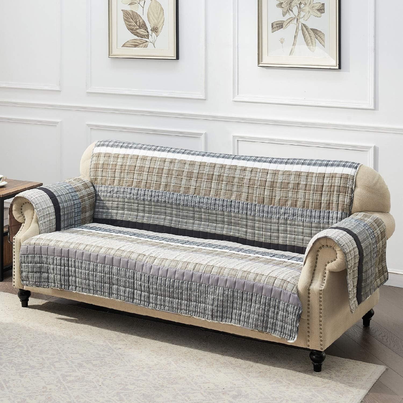 Barefoot Bungalow Gold Rush Slipcover, Sofa, Gray
