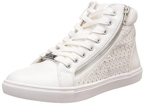 7ca86d9b841 Steve Madden Women's Eiris White Sneakers - 7 UK/India (39.5 EU) (9 ...