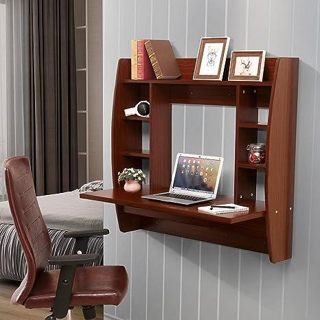 Amazon.com: Mesa de escritorio flotante de pared con ...