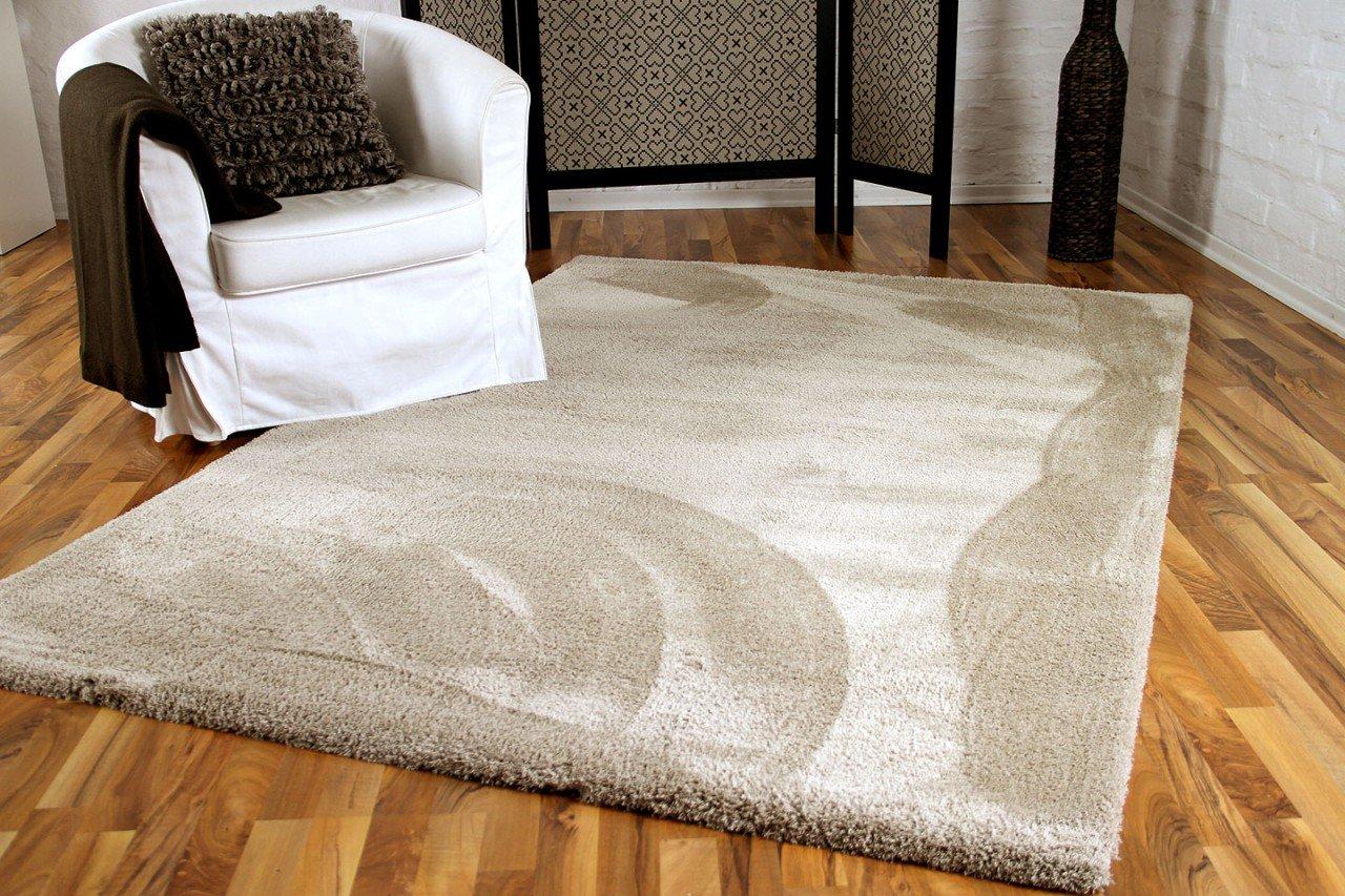 Luxus Shaggy Hochflorteppich Silky Soft Beige in 4 Größen
