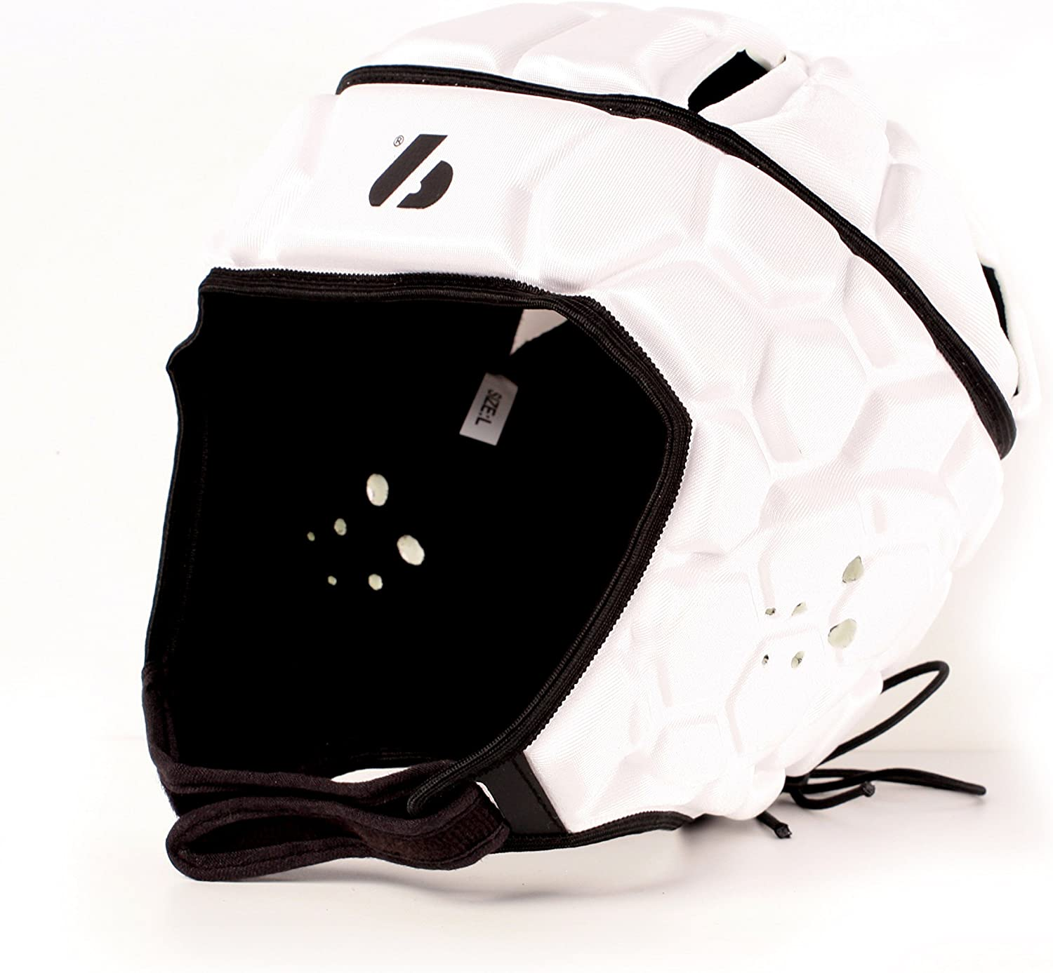 BARNETT Heat Pro Helmet - Soft Padded Headgear - Rugby -Flag Football - Youth and Adult Sizing 7 on 7-7v7 Soft Shell- Epilepsy Head Fall Protection, White : Sports & Outdoors
