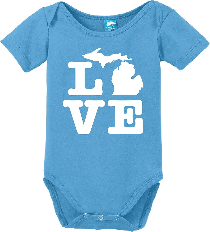 Michigan Love Printed Infant Bodysuit Baby Romper