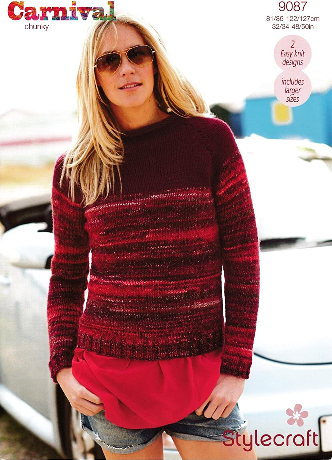 Stylecraft 9067 Knitting Pattern Ladies Cable Sweater in Swift Knit Super Chunky