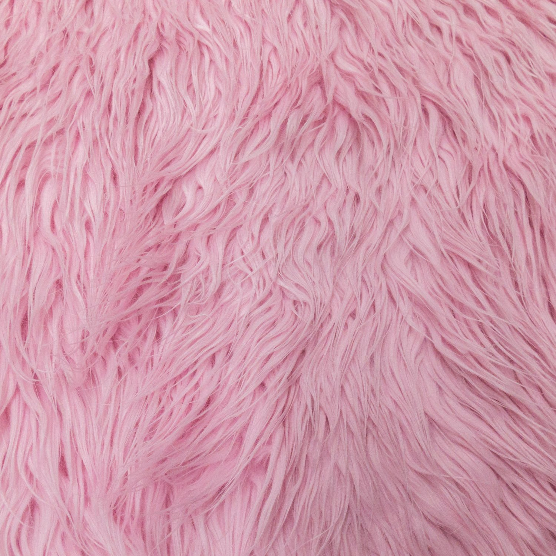 Amazon.com: Faux / Fake Fur Mongolian Pink Fabric by the Yard ...