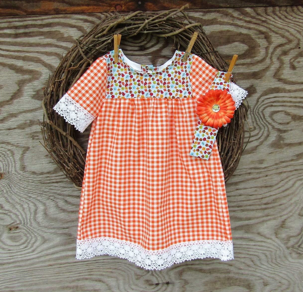 Girl Snap dress cotton custom order handmade