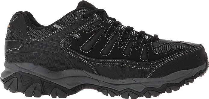 Skechers Mens After Burn Memory Fit Low Top Shoes Black: Amazon.es: Zapatos y complementos