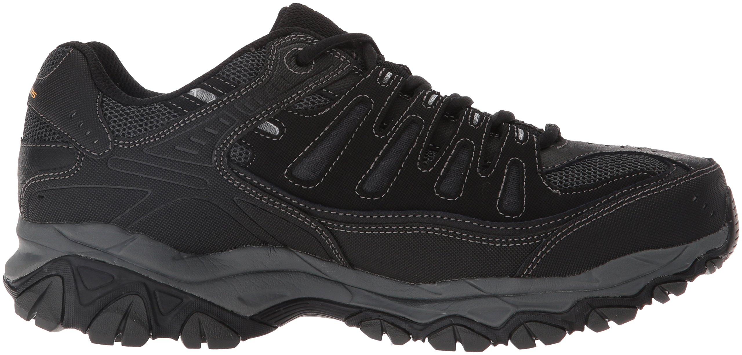 Skechers Men's AFTERBURNM.FIT Memory Foam Lace-Up Sneaker, Black, 6.5 M US by Skechers (Image #7)