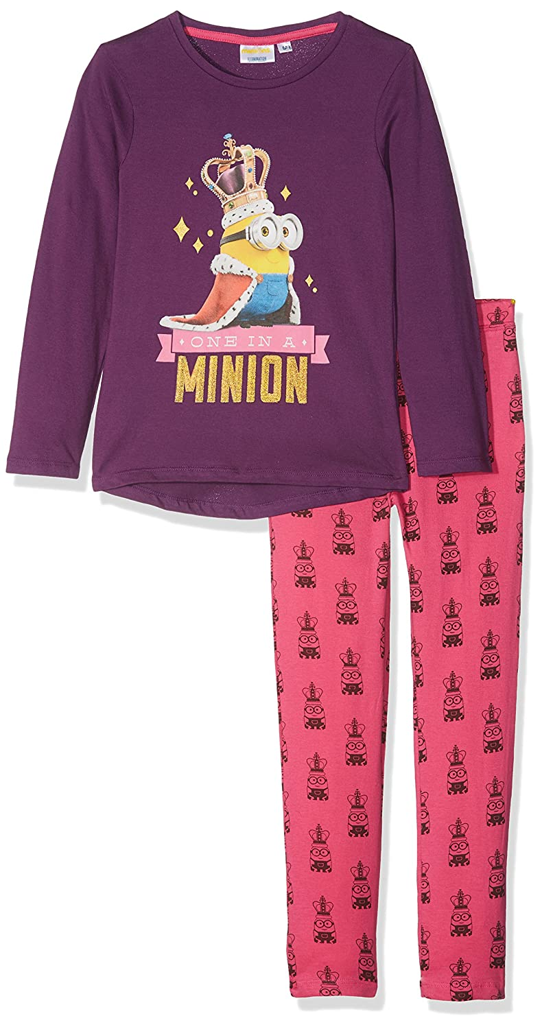 4ec9f48571 Les minions Girl s Minion Queen Pyjama Sets  Amazon.co.uk  Clothing