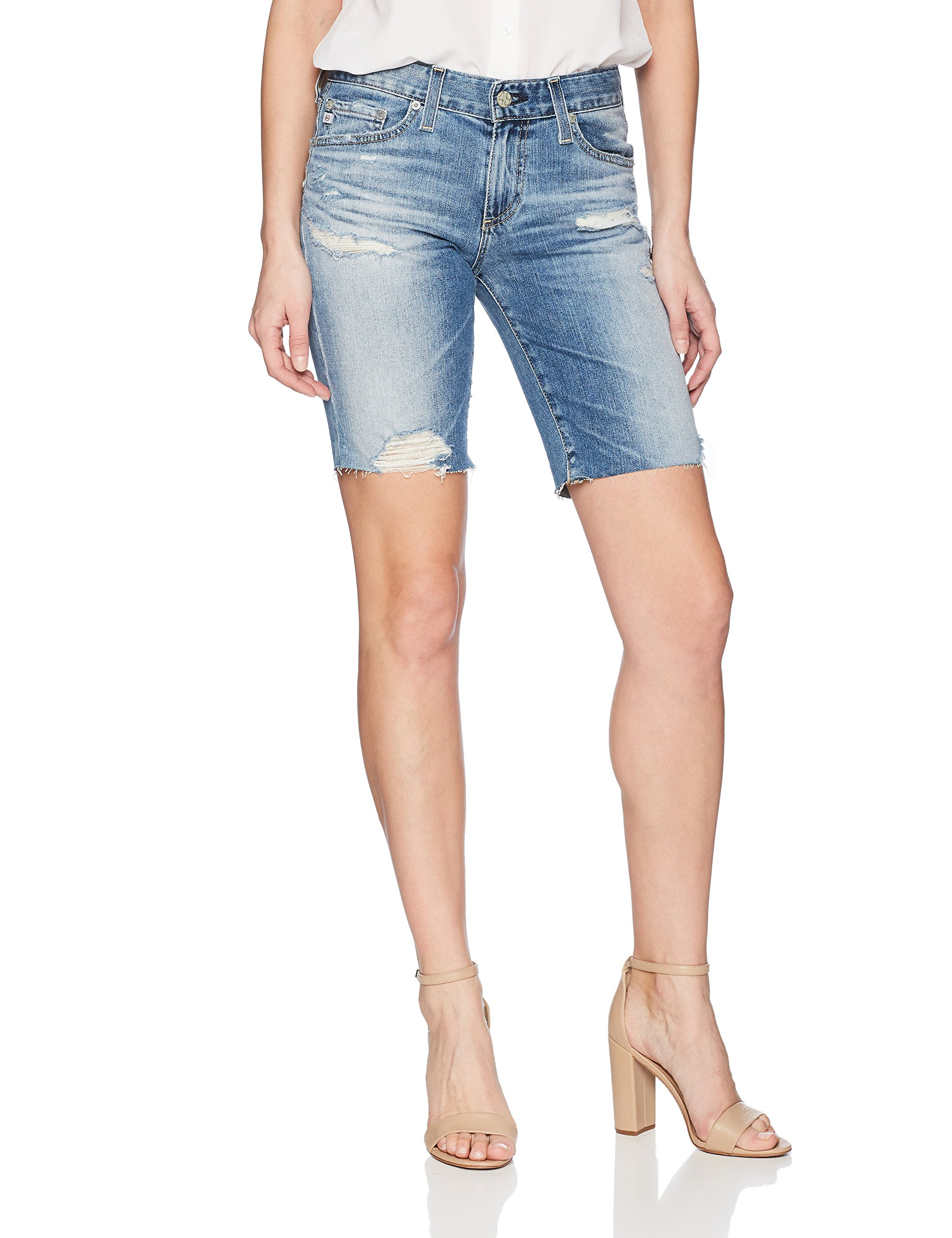 AG Adriano Goldschmied Women's Nikki Denim Short, 16 Years Indigo deluge Destruc, 27