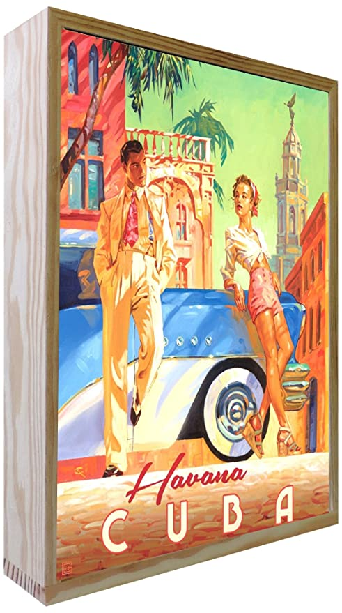 Ccretroiluminados Havana Cuba Cartel Vintage Iluminados ...
