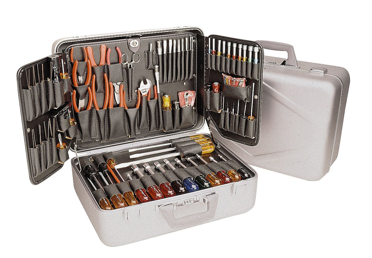 Xcelite TCA100ST Aluminum Attach Tool Case with Tools, 17-5/8'' Length, 12-5/8'' Width, 7-7/8'' Height