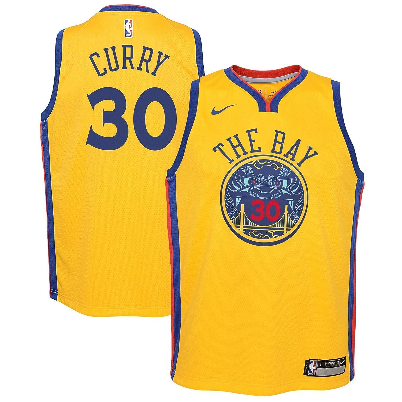 Nike NBA Golden State Warriors Stephen Curry Youth Swingman Jersey ...