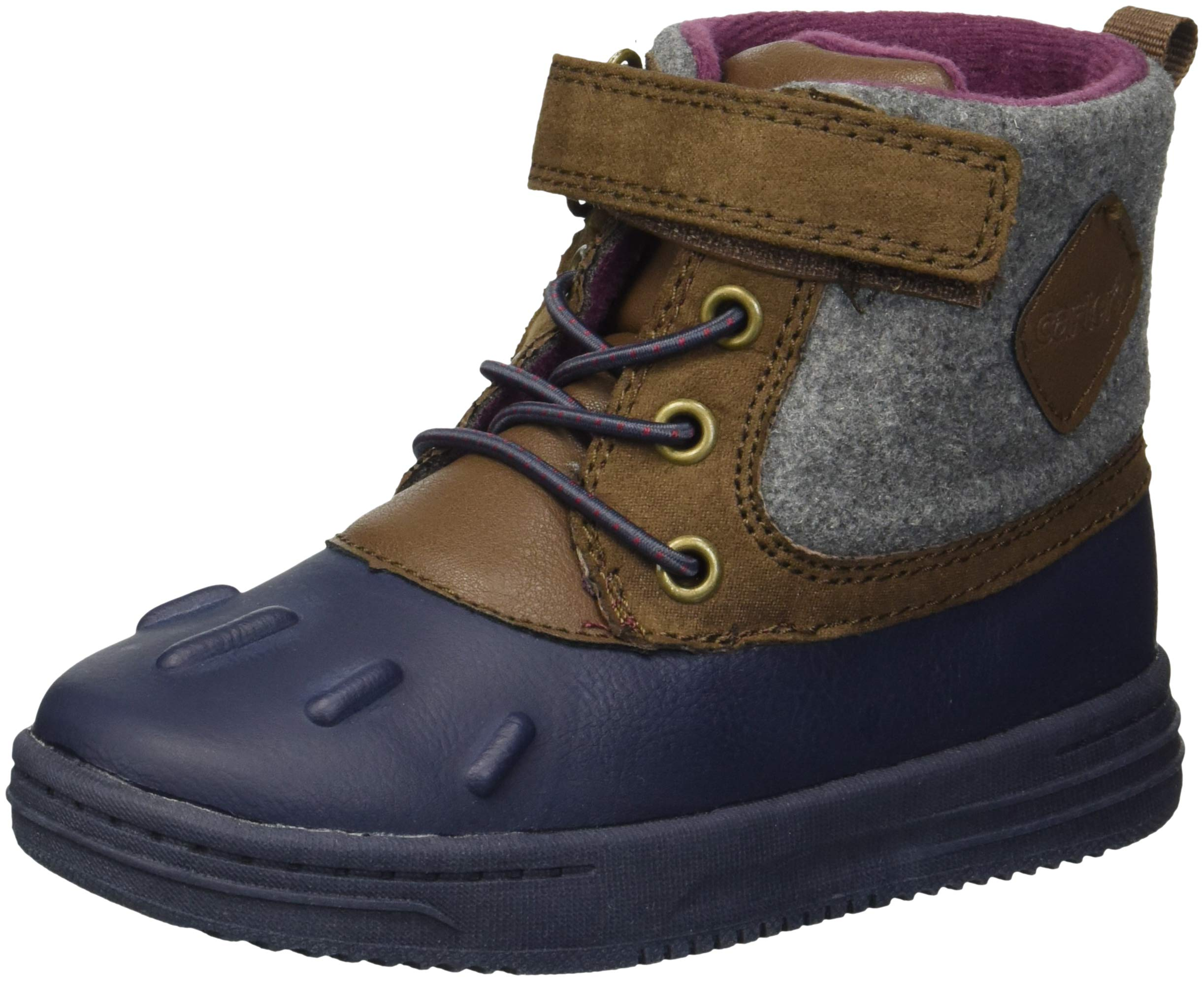 Carter's Boys' Bay2-B Duck Fashion Boot, Navy, 6 M US Toddler