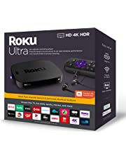 Roku Ultra Streaming Media Player 4K/HD/HDR 2019 with Premium JBL Headphones
