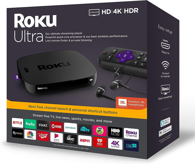 Roku Ultra Streaming Media Player + Premium JBL Headphones for $69