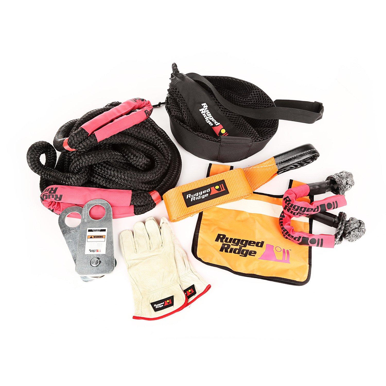 Rugged Ridge 15104.29 Premium Recovery Kit with Mesh Bag by Rugged Ridge