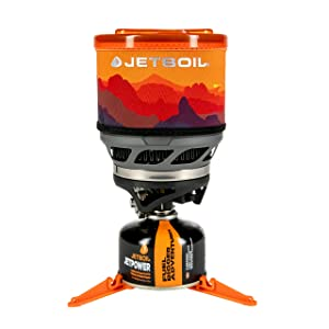 Jetboil MiniMo Camping Stove Cooking System, Sunset