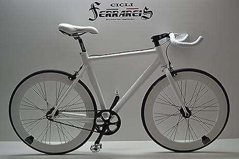 Fixed Bike Single Speed Bici Single Speed Bici Scatto Fisso Bianca