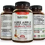 Apple Cider Vinegar Capsules - 3X Potency 1950mg - Weight Loss, Detox & Cleanse - Diet Pills for Women & Men, Keto Belly Fat