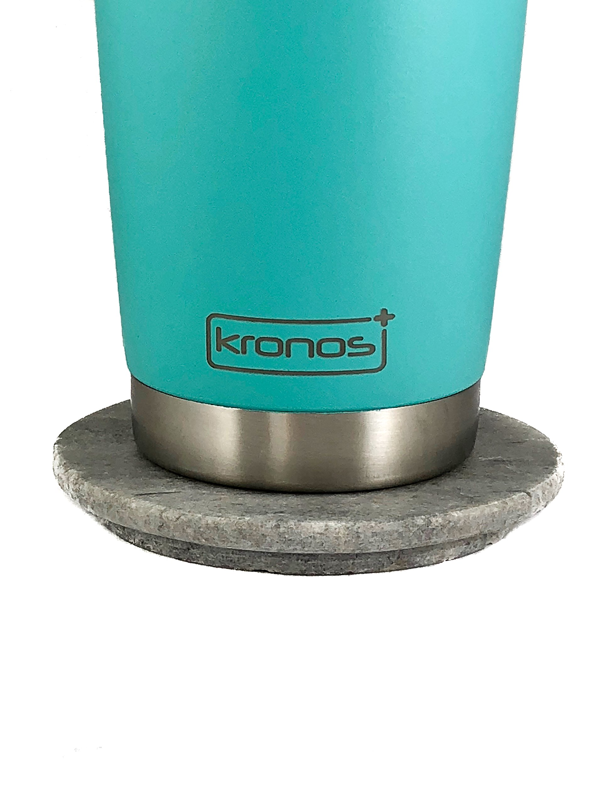 ( SEA FOAM ) Dishwasher Safe 20 oz Vacuum Insulated Thermos with High Quality Matte Finish - Coffee Mug Tumbler by Kronos + (Image #7)