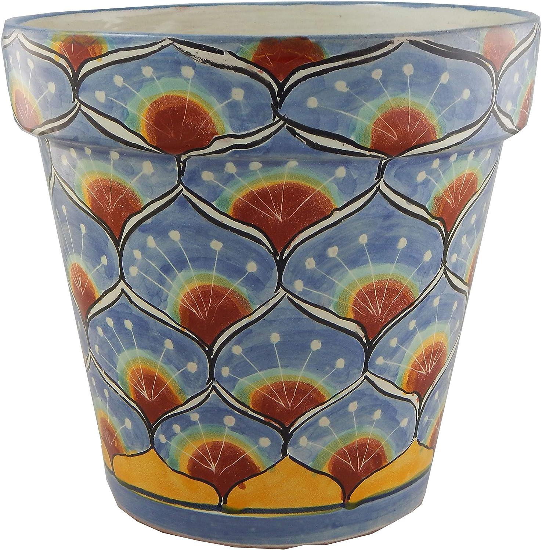 Mexican Talavera Planter Ceramic Flower Pot Folk Art Pottery Garden Handmade # 31