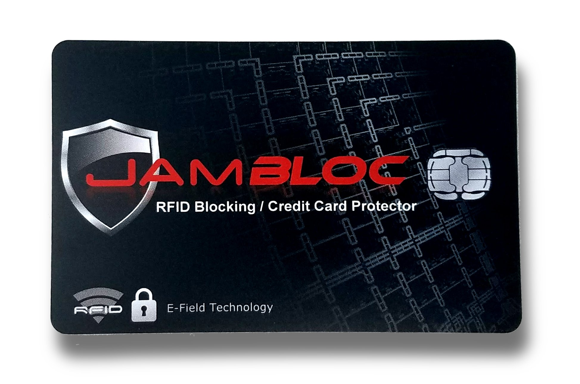 Jambloc RFID Blocking Card - A Single Card is All You Need to Shield and Protect Your Entire Wallet, Purse or Passport from Scams and Identity Theft
